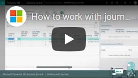 How to work with journals in Dynamics 365 Business Central