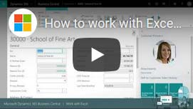 How to work with Excel in Dynamics 365 Business Central